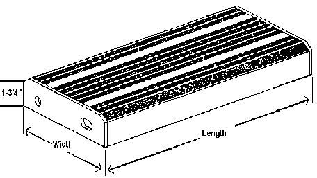 Type 1 Aluminum Ladder Tread
